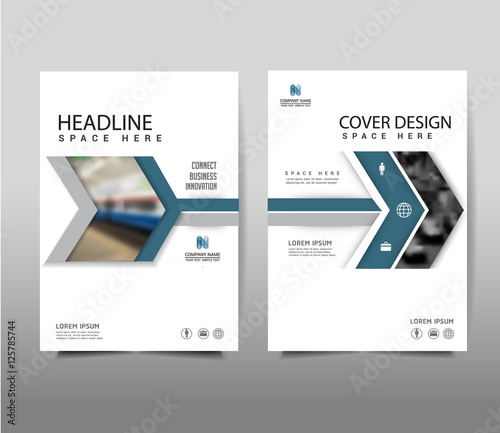 Arrow Symbol Brochure Template Layout Cover Design Annual Report