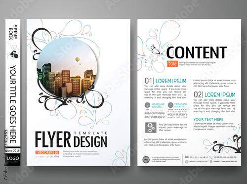 """Portfolio Design Template Vector Layout Minimal Brochure"
