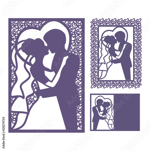 Laser Cut Wedding Card Template Invitation To Zoom