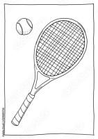 """""""Ausmalbild Tennis"""" Imagens e fotos de stock Royalty Free ..."""