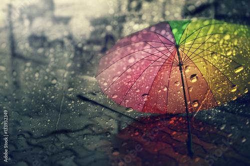 blurry of umbrella view
