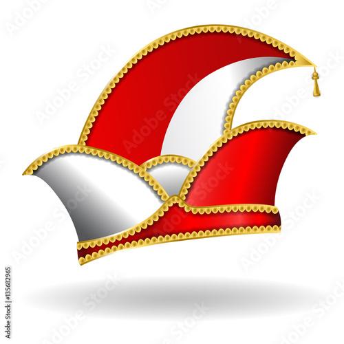 """Karneval Narrenkappe - RotWeiß"" Stock image and royalty"