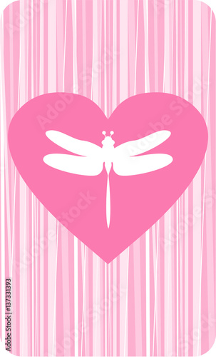 """Download """"Valentine Dragonfly Love Heart"""" Stock image and royalty ..."""