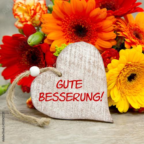 Blumen und Herz Gute Besserung Stockfotos und lizenzfreie Bilder auf Fotoliacom  Bild