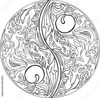 """""""Coloring TAO mandala vector"""" Stock image and royalty-free ..."""