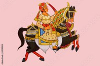 """""""Traditional Indian or Rajasthani wall painting of Horse ..."""