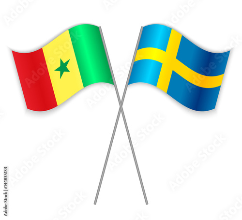 quotSenegalese and Swedish crossed flags Senegal combined