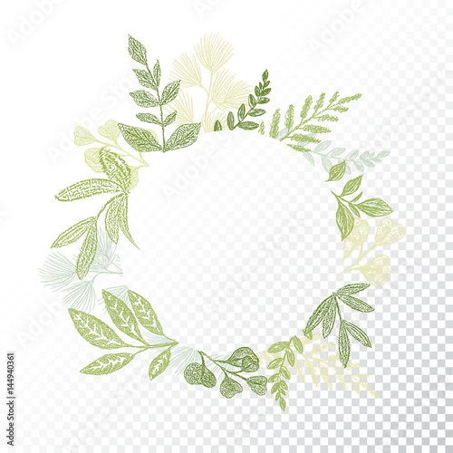 Cell Wallpaper Hd Illustration Fall Quot Circle Floral Frame With Hand Drawn Branches And Leaves
