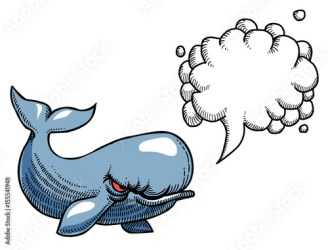 freehand whale artistic speech angry bubble cartoon comp contents similar