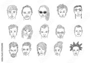 drawing people faces men