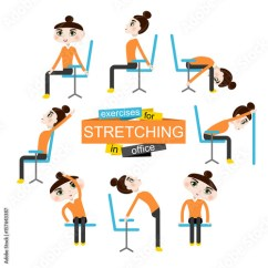 Office Chair Exercises Home Theater Chairs Pretty Girl Is Doing For Stretching On The