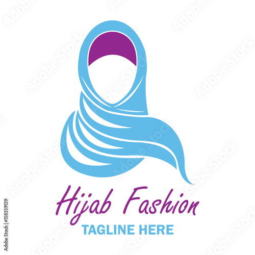 hijab logo with text space for your slogan  tag line