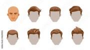 """""""hair man set of men cartoon hairstyles"""
