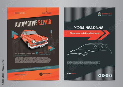 auto services business flyer