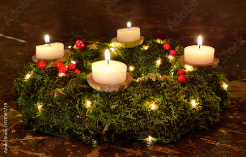 """Adventskranz - 4. Advent """" Stock photo and royalty-free images on"""