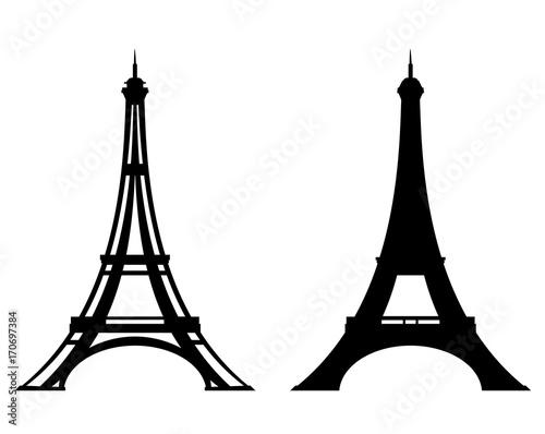 eiffel tower stylized outline