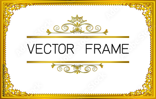 gold border design frame