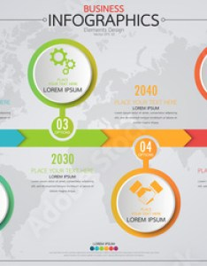 Infographic business horizontal timeline process chart template vector modern banner used for presentation and workflow also rh fotolia
