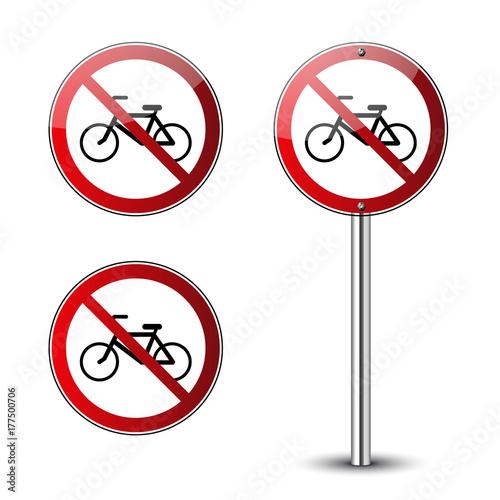 no bicycle signs set