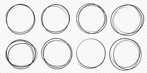 Circular Black Graffiti Tag Pattern On White Stock Vector