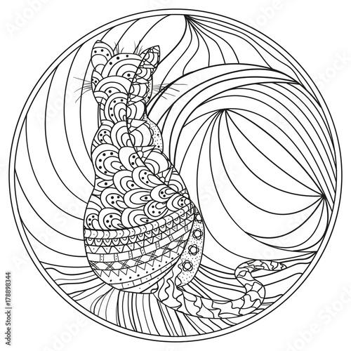 Zendala Zentangle Hand Drawn Circle Mandala With