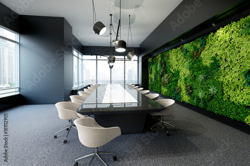 Fall Ceiling Wallpaper Download Quot Vertical Green Wall In Modern Meeting Room Quot Stock Photo