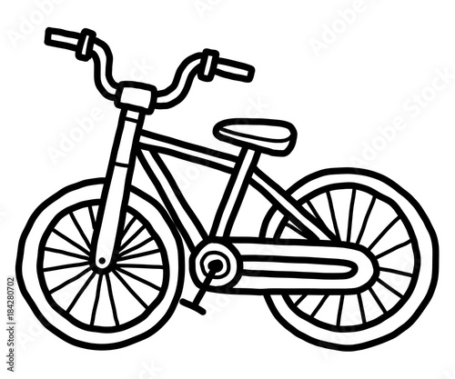 small bicycle cartoon vector