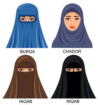 Muslim women avatar set with black islamic clothing vector. 9 192 Best Burka Images Stock Photos Vectors Adobe Stock