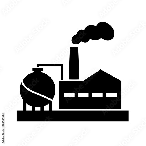 old factory vector silhouette