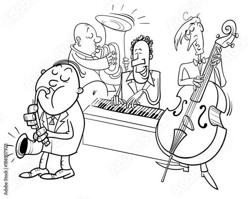 Jazz Band Coloring Pages