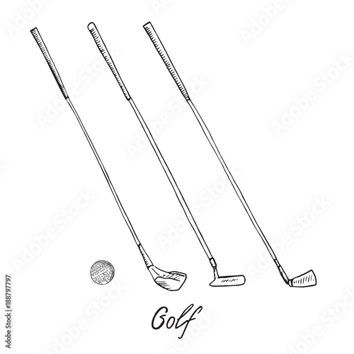 Golf Putter Vector