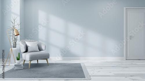 """Scandinavian Interior Of Living Room Concept, Light Gray"