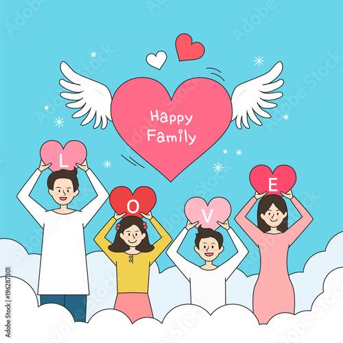 happy family illustration stock