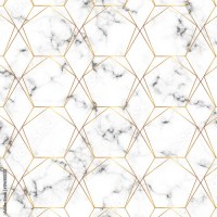 """""""Modern minimalist white marble texture with gold ..."""