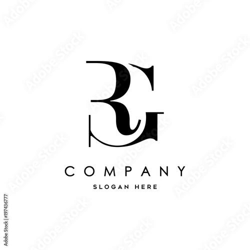 letter rg element logo