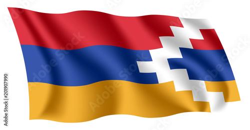 artsakh flag isolated national
