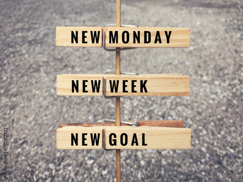 quotMotivational and inspirational quote Words New Monday