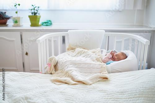 newborn baby having a
