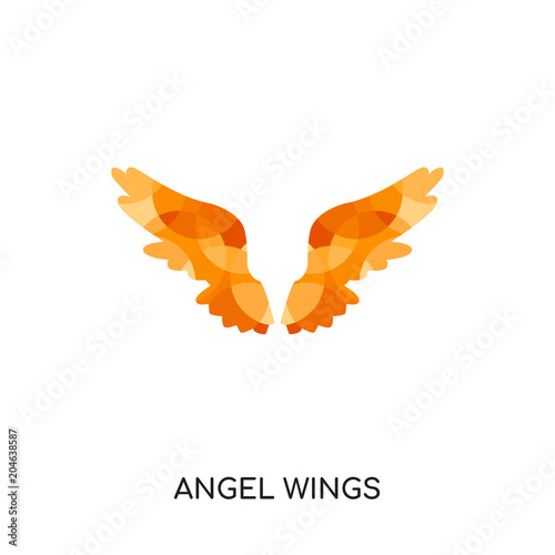 angel wings logo isolated