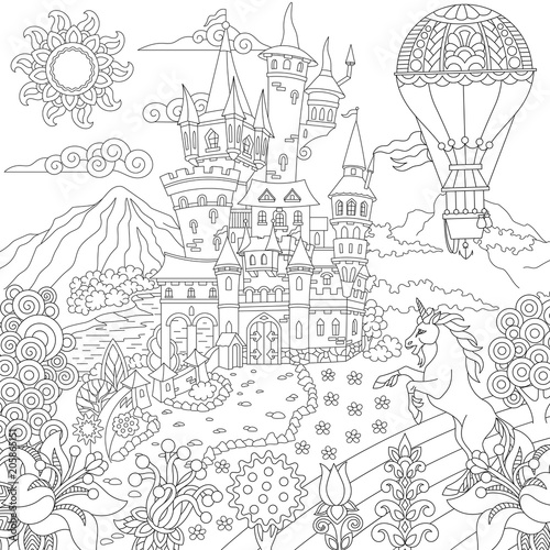 hot air balloon coloring pages # 76
