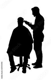"""""""male hairdresser holding scissors"""