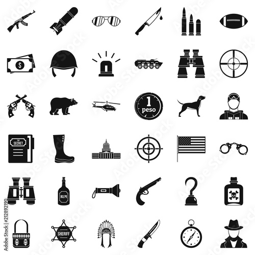 bullet icons set simple