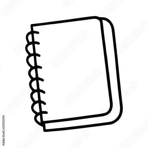 Open Drawing Notebook Colouring Pages Sketch Coloring Page