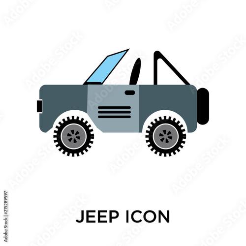 jeep icon on white