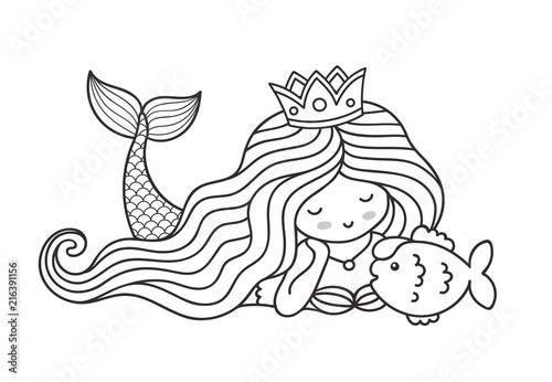 mermaid lying on the