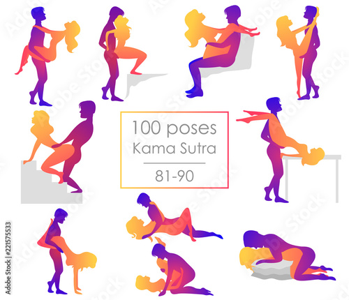 Set Of Ten From Hundred Kama Sutra Positions
