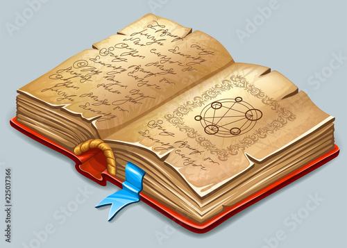 isometric cartoon book of