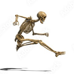 Funny Exercise Diagram 2003 Ford F150 Lariat Radio Wiring Skeleton Doing Long Jump Human Exercising On White Background 3d Rendering