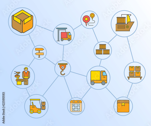 shipping and logistic concept