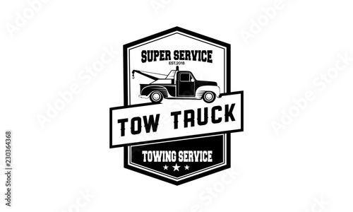 vintage car tow truck